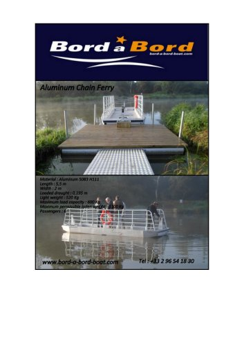 Aluminum chain ferry