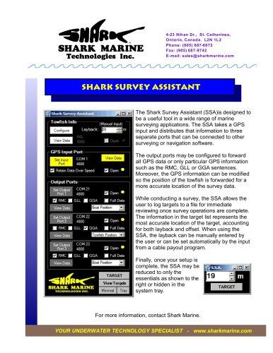 Shark Survey Assistant Brochure