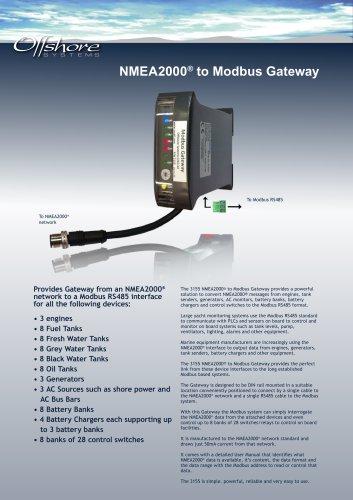 NMEA2000® to Modbus Gateway