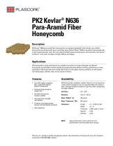 PK2 Kevlar ®  N636 Para-Aramid Fiber  Honeycomb