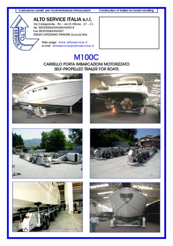 SELF PROPELLED BOAT TRAILER M100C
