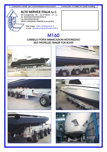 SELF PROPELLED BOAT TRAILER M160
