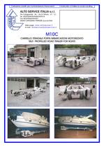 SELF PROPELLED ROAD TRAILER FOR BOAT M10C