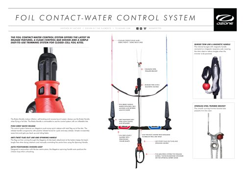 FOIL CONTACT-WATER CONTROL SYSTEM