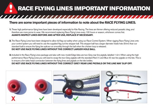 RACE FLYING LINES