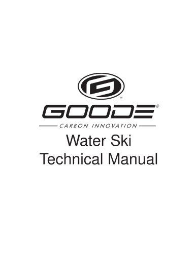 Slalom water ski Technical manual