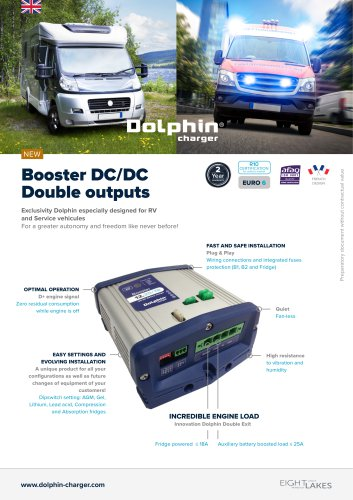 Booster DC/DC Double outputs