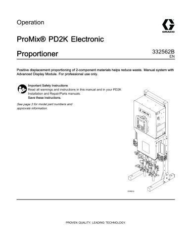332562B, ProMix PD2K Electronic Proportioner, Operation ...