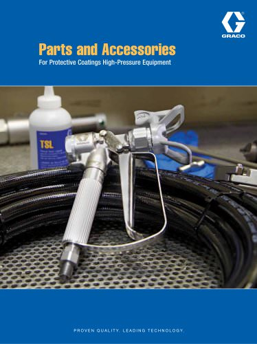 349329EN-A Parts Accessories for Protective Coatings Equipment brochure
