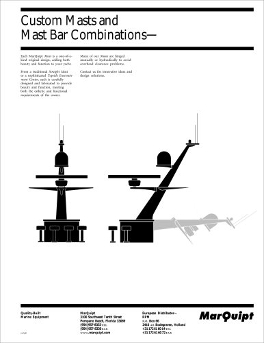 Masts and Mast Bar Combinations