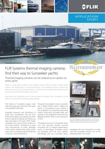FLIR Systems thermal imaging cameras find their way to Sunseeker yachts