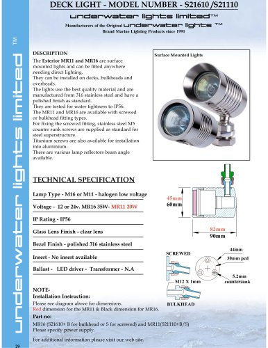 MR11 & MR16 Surface Mounted Lights