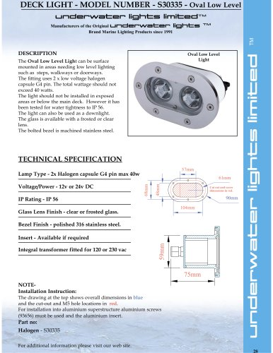 Oval Low/High Level Adjustable Twin Flood