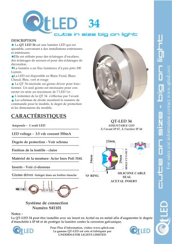 QTLED 34 adjustable exterior or interior LED