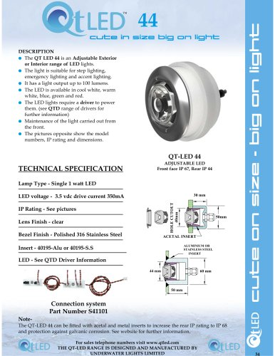 QTLED 44 adjustable exterior or interior LED