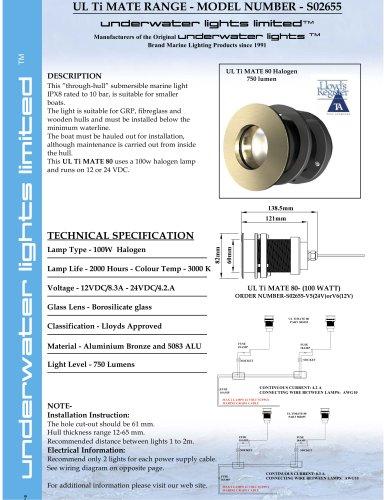 UL Ti MATE 80 - 100 watt Halogen for 12/24 DC