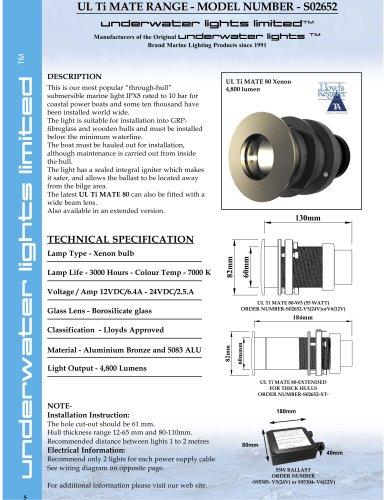 UL Ti MATE 80 55 watt Xenon 12 & 24 Volt DC
