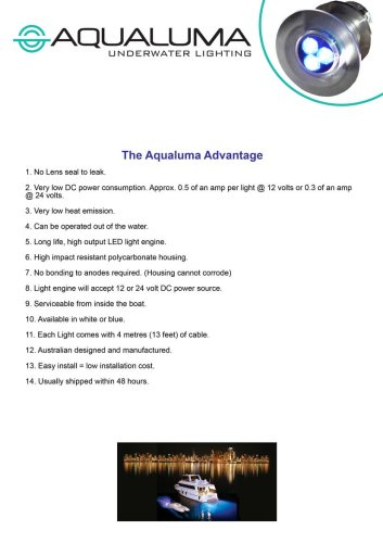 Aqualuma advantages