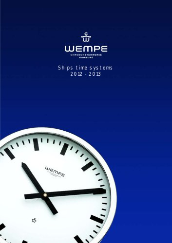 WEMPE Ship's Time Systems 2012-2013