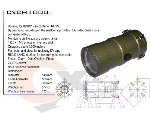 CxCH 1000 CAMCORDER HOUSING