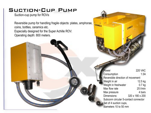 SUCTION-CUP PUMP FOR ROVS