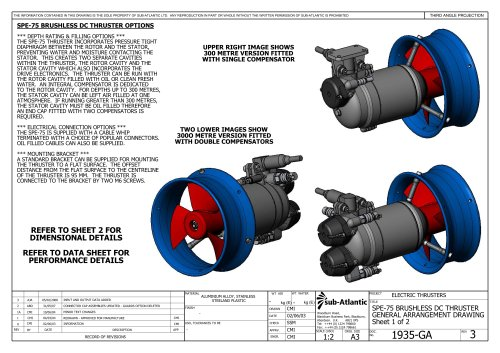 BRUSHLESS DC THRUSTER OPTIONS/DRAWINGS