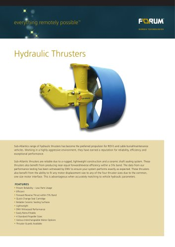 FOR233_Hydraulic_Thrusters_Data_Sheet_100312
