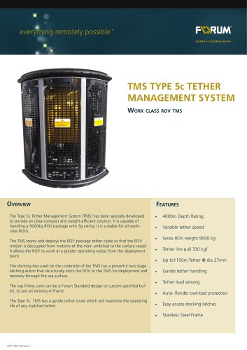 Type 5 Tether Management System