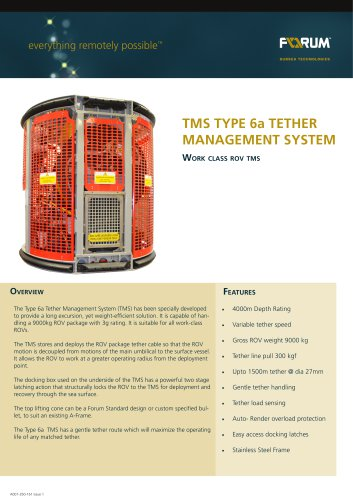 Type 6 Tether Management System