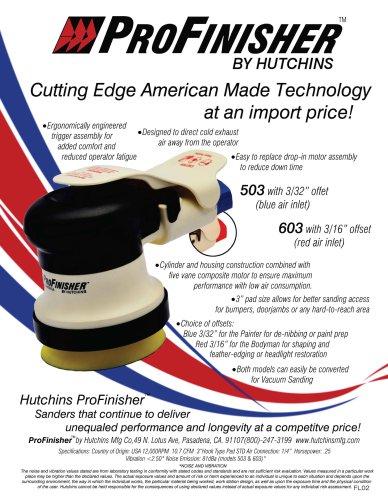 Hutchins 3570 High Performance Random Orbit Sander 3//16 Offset