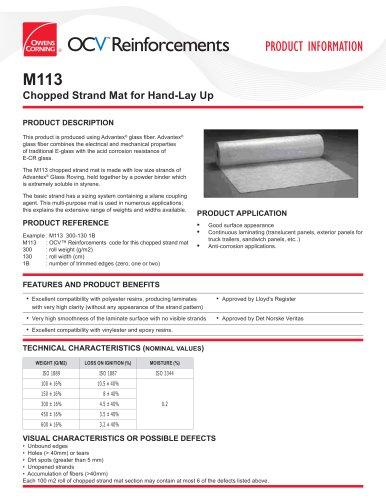 ChoppedStrandMats_M113