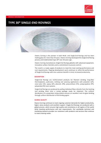 TYPE 30® SINGLE-END ROVINGS