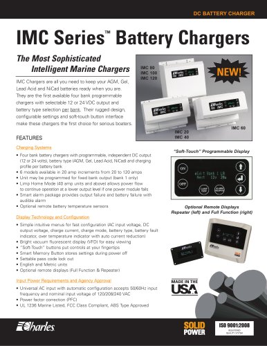 IMC Series? Battery Chargers