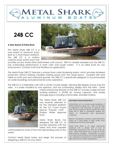 Metal Shark Boats Brochure