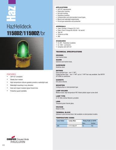 HazHelideck  1158D2/1159D2/br