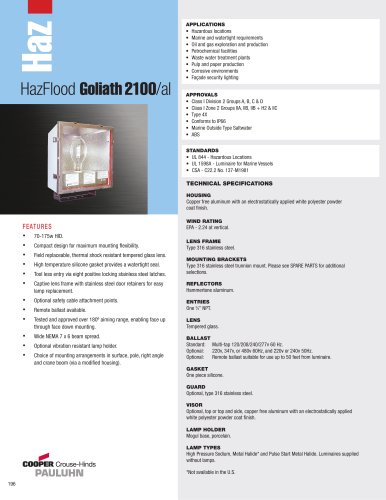 Pauluhn? HazFlood Goliath 2100/al Floodlights