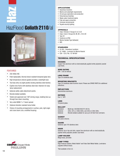 Pauluhn? HazFlood Goliath 2110/al Floodlights