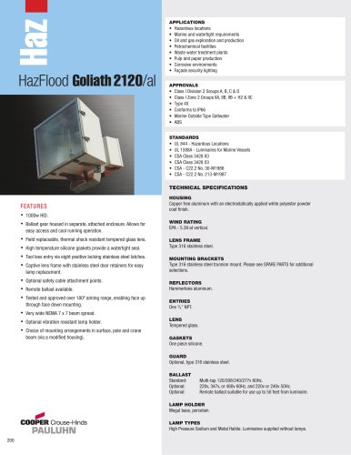 Pauluhn HazFlood Goliath 2120/al Floodlights