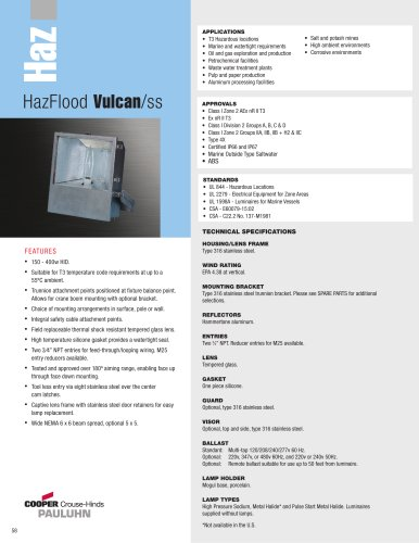 Pauluhn HazFlood Vulcan/ss Floodlights