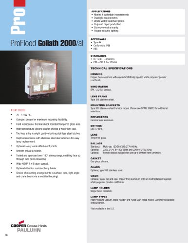 Pauluhn ProFlood Goliath 2000/al Floodlights