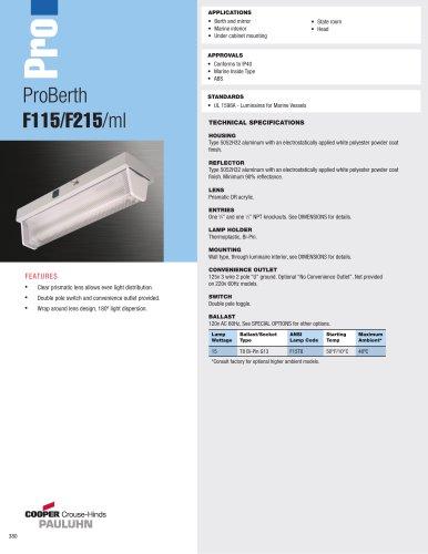 ProBerth  F115/F215/ml