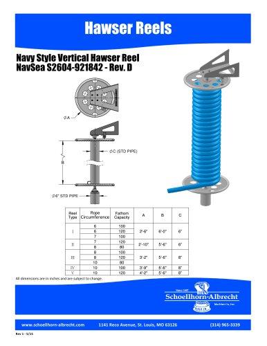 NAVSEA S2604-92842, VERTICAL HAWSER REEL