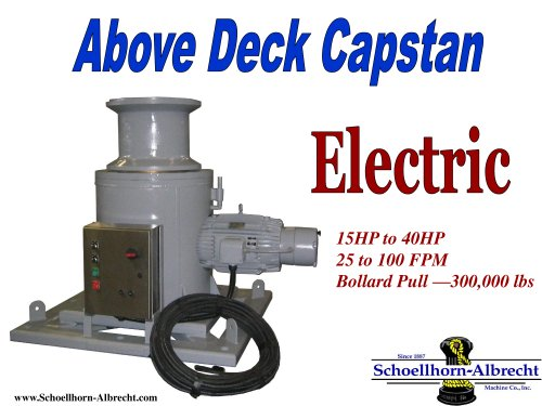 Right Angle Style Above-the-Deck Capstan