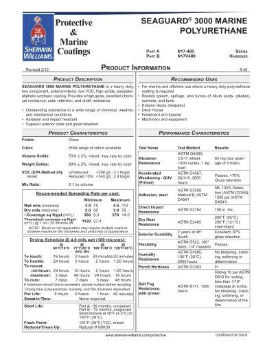 SEAGUARD® 3000 MARINE  POLYURETHANE