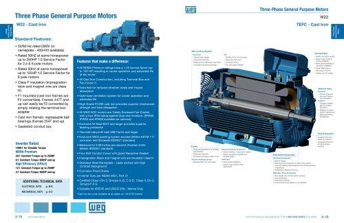 Three Phase General Purpose Motors