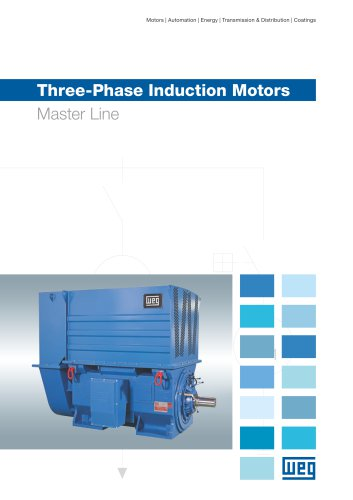 Three-phase induction motors Master line