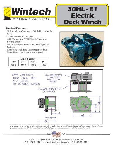 30HL-E1 Electric Deck Winch