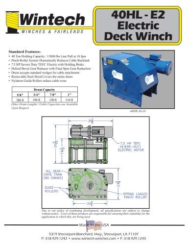 40HL-E2 Electric Deck Winch
