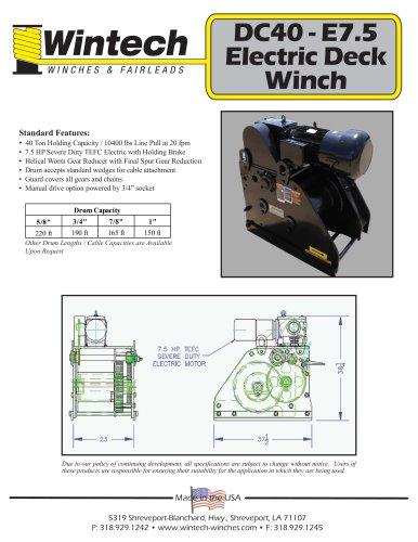 DC40-E7.5 Electric Deck Winch
