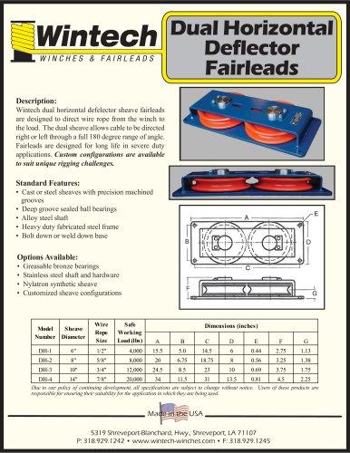 Dual Horizontal Deflector Fairleads